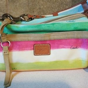 Coach Multi Color Hand Shoulder Bag Purse #10383
